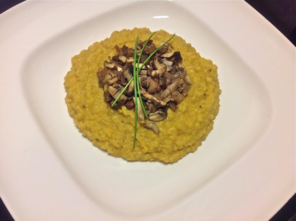 Quinoa van pompoen en champignons