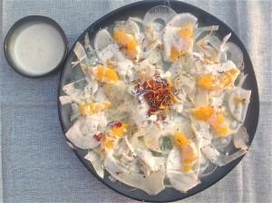Salade van venkel, sinaasappel en blauwe kaas - www.truitjeroermeniet.be