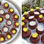 Chocoladecupcakes met chocoladeglazuur voor mijn jarige meid