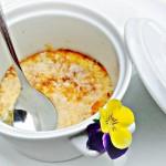 Crème brûlée van asperges