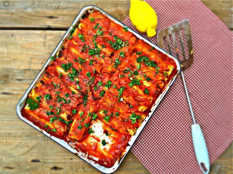 Cannelloni met pancetta en pecorino - www.truitjeroermeniet.be
