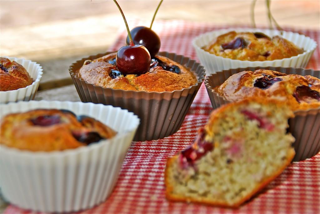 Gezonde muffins met kersen - kidsproof - voedselzandloper - www.truitjeroermeniet.be