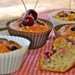 Gezonde muffins met kersen