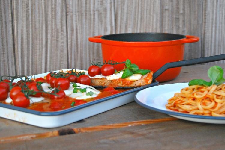 Kalfslapje met mozzarella - www.truitjeroermeniet.be