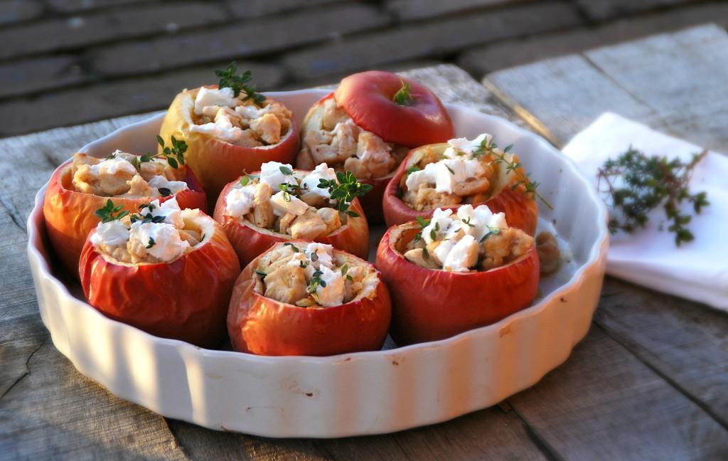 Gevulde appeltjes uit de oven met kip en geitenkaas - www.truitjeroermeniet.be