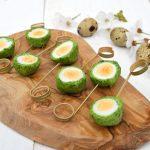 Hapje: Kwarteleitjes in een nestje van parmezaan, citroen en koriander