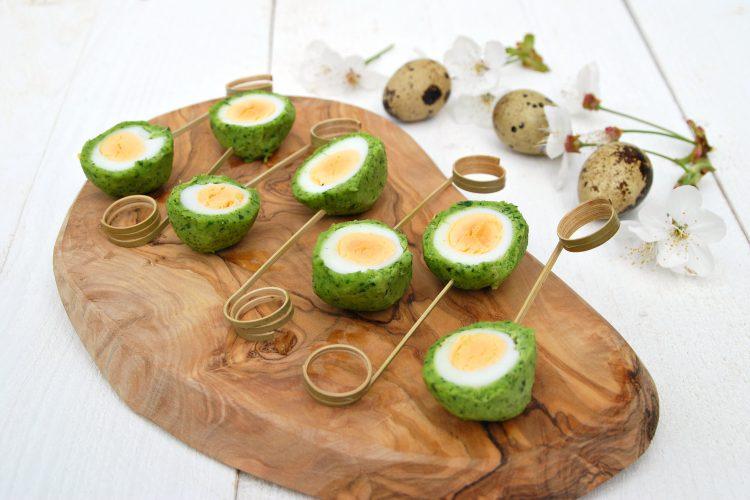 Kwarteleitjes in een nestje van parmezaan, citroen en koriander - www.truitjeroermeniet.be