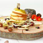 Millefeuille van appel, camembert en hazelnoot