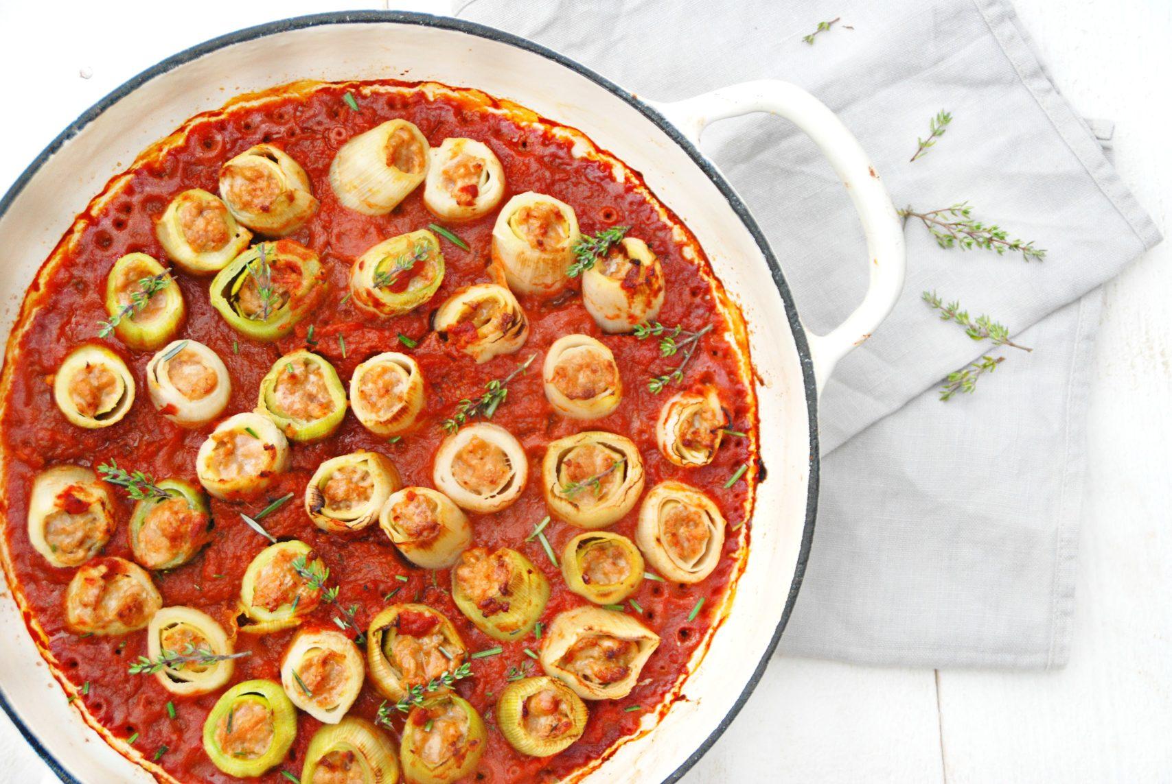 Cannelloni van prei met kippengehakt en tomaat truitjeroermeniet - Ideeen van voorgerecht ...