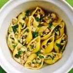 Schelpjes verzamelen – pasta met kip