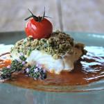 Smaakknaller: Schelvis met kruidencrumble en tomatencoulis