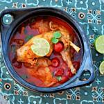 Curry van konijnenbout met tomaat en limoen