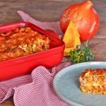 Verse lasagne met pompoen en kippengehakt