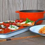 Kalfslapje met mozzarella en kerstomaatjes